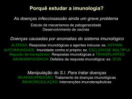 Características da resposta Imunológica
