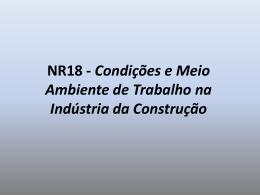 NR18 - Condições e Meio Ambiente de Trabalho na Indústria da