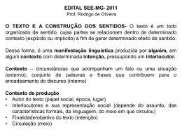 INTERTEXTUALIDADE-20-11-2011