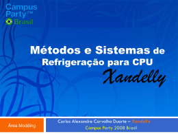 Metodos e Sistemas de Refrigeracao para CPU