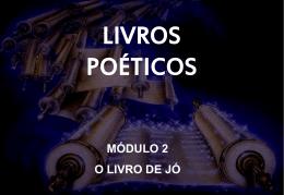 livros poéticos - Nova Igreja Batista