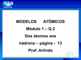 Modelos Atômicos - Escola Rainha do Brasil