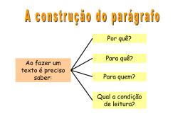 Parágrafo - Blog dos Professores