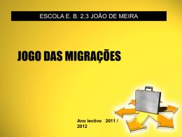 JOGO DA MIGRAÇÕES - WIKI João de Meira