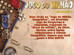 JOGO DO MILHÃO GEOGRÁFICO
