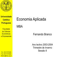 Economia Aplicada MBA - Universidade Católica Portuguesa