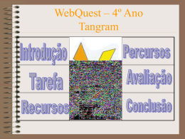 Web Quest – 4º Ano Tangram