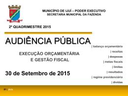 Audiência Publica 2º Quadrimestre 2015