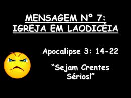 mensagem nº 7 das igrejas de apocalipse