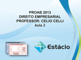 PROAB 2013 DIREITO EMPRESARIAL – AULA 02