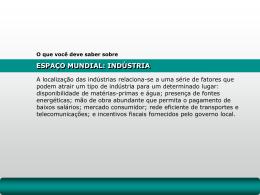Espaço Mundial – Indústria