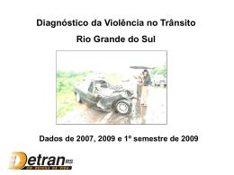 Diagnostico violência no trânsito RS