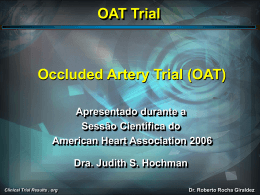 OAT Trial - Clinical Trial Results