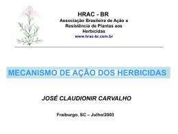 Mecanismo de ação - HRAC-BR