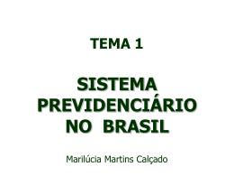 sistema previdenciário no brasil - seplag