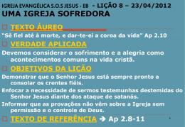 IGREJA EVANGÉLICA S.O.S JESUS