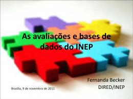 O uso das avaliações e bases de dados do INEP