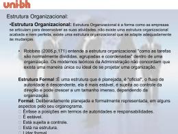 Aula Fundamentos de Organização - UNI