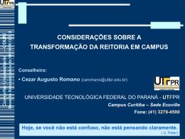 Conselho Universitário – COUNI Reunião Extraordinária
