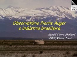 Industria Brasileira no Projeto Auger - Mesonpi