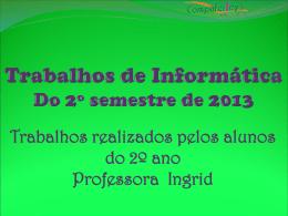 2º ano - Colégio Santa Beatriz