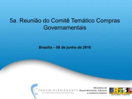 Compras Governamentais - Ministério do Desenvolvimento