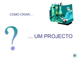 como_fazer_projectos