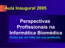 O que é informática biomédica?