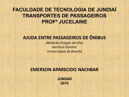 faculdade de tecnologia de jundiaí transportes de passageiros profª