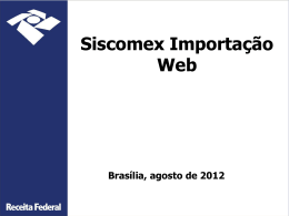 siscomex importação web – fase i