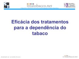 Eficácia dos tratamentos para a dependência do