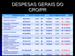 PRESTAÇÃO DE CONTAS DO CROPR