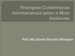 Principais Conferências Internacionais sobre o Meio