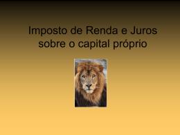 2-Imposto de Renda e Juros Sobre o Capital Próprio.