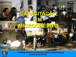 II SEMINÁRIO BANCO CENTRAL SOBRE