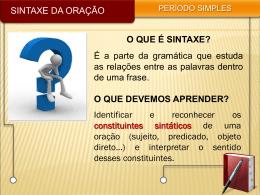 o que é sintaxe?