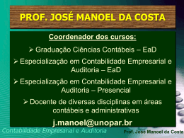 Prof. José Manoel da Costa