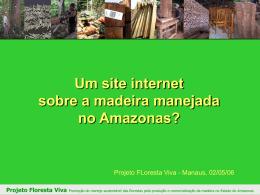 Um site internet sobre a madeira manejada no Amazonas?