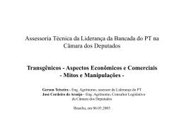 Mitos e Manipulações sobre Aspectos Econômicos e Comerciais