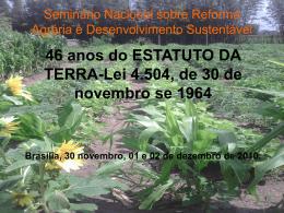 Seminário Nacional sobre Reforma Agrária e