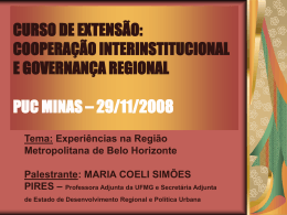 MINI-CURSO SOBRE CONSÓRCIOS - Centre for Human Settlements