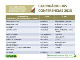 i conferência nacional sobre assistência técnica e extensão