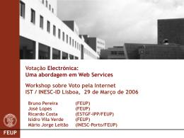 Votação Electrónica: Uma abordagem em Web Services Workshop