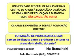 ppt - UFMG - Universidade Federal de Minas Gerais