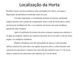 Localização da Horta