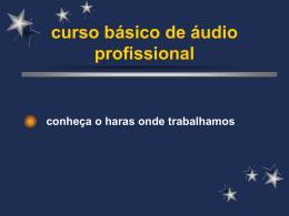 curso básico de áudio profissional