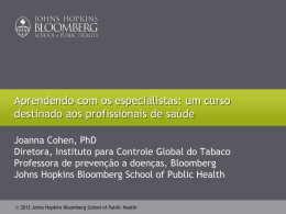 Tabaco - Global Tobacco Control