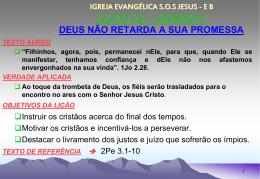 12/09/2011 deus não retarda a sua promessa