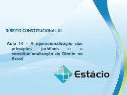 DIREITO CONSTITUCIONAL III Aula 14