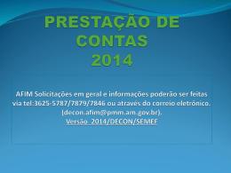Prestação de Contas 2014